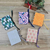 Petite Exposed Binding Notebook with Ribbon