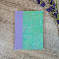 Lavender with Green Chevron