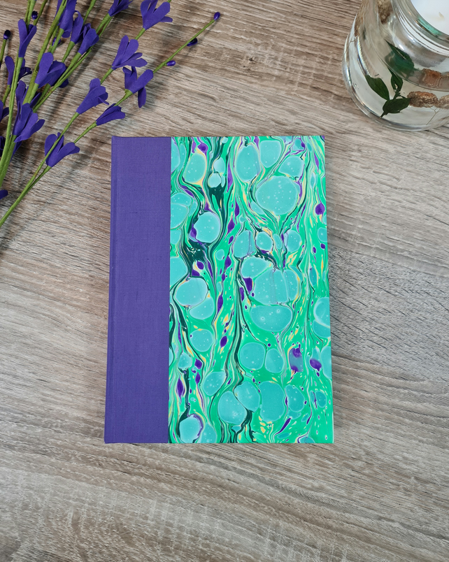 Purple with Green Stones Notebook