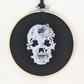 Skull embroidered hoop wall hanging art decoration gothic lace