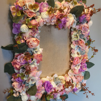 Gorgeous silk flower picture frame