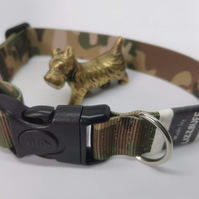 Green Camouflage dog collar