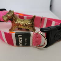 Pink Jacquard Dog Collar