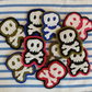Pirate skull & crossbones, hand stitched badges, felt fabric brooches,