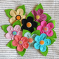 Felt flower brooches, in beautiful colours, fabric flower corsages
