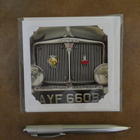 SALE - Classic Rover Grille White Blank Card