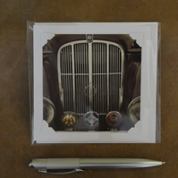SALE - Classic Morris Grille White Blank Card
