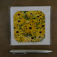 SALE - Summer Yellow 2 White Blank Card