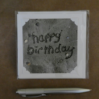 SALE - Happy Birthday - In the sand White Blank Card