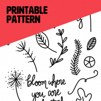 Pick 'n' Mix Embroidery Designs - Botanicals (Printable Design)