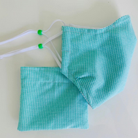 Fabric face mask with adjustable ear straps