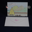 Camping in the Countryside, Blank Card