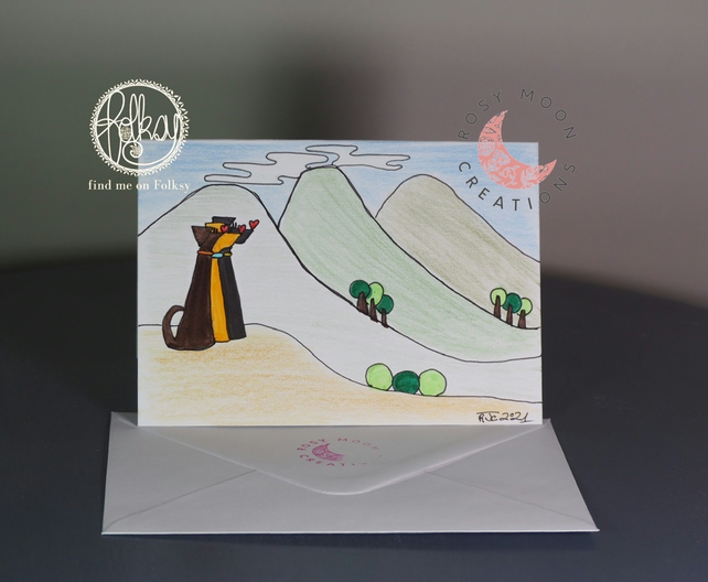 Dogs in the Countryside Blank Card