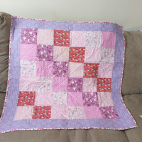 Mainly Pink Nursery Quilt