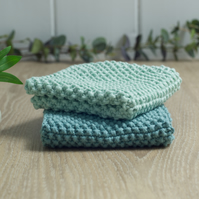 Sage & Mint - 100% cotton hand-knitted dishcloths