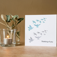 Flying Birds - Handmade Greetings Card