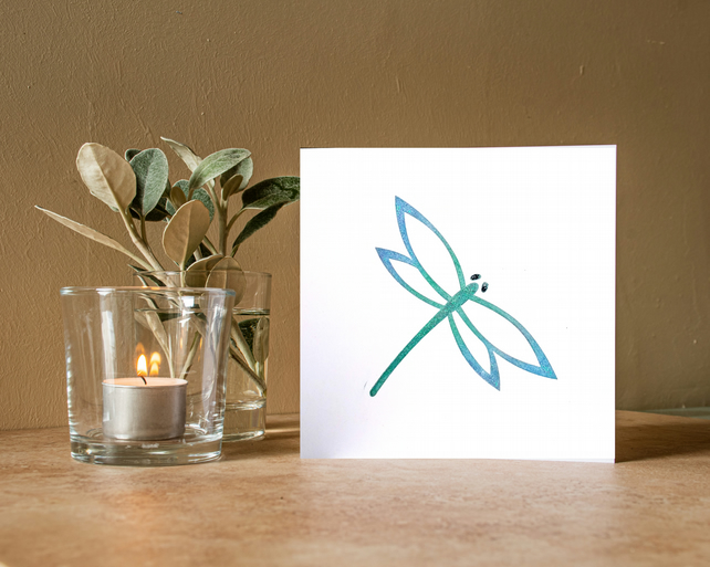 Dragonfly - Handmade Greetings Card