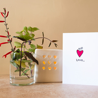 Love - Handmade Greetings Card
