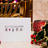 Happy Christmas - Handmade Christmas Card