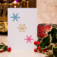 Three Snowflakes - Handmade Christmas Card