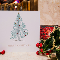 Christmas Tree - Handmade Christmas Card