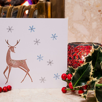 Christmas Stag - Handmade Christmas Card