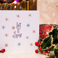 Let It Snow - Handmade Christmas Card