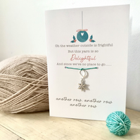 Stitch marker Christmas Card