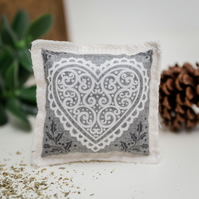 EcoKitty handcrafted Organic Catnip Christmas Toy  - Contemporary Design in Grey