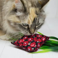 EcoKitty Handcrafted Organic Catnip Parcel toy - Floral range
