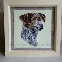 Jack Russell quilled greetings card (frame an optional extra)