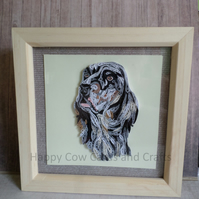 English Setter quilled greetings card (frame an optional extra)