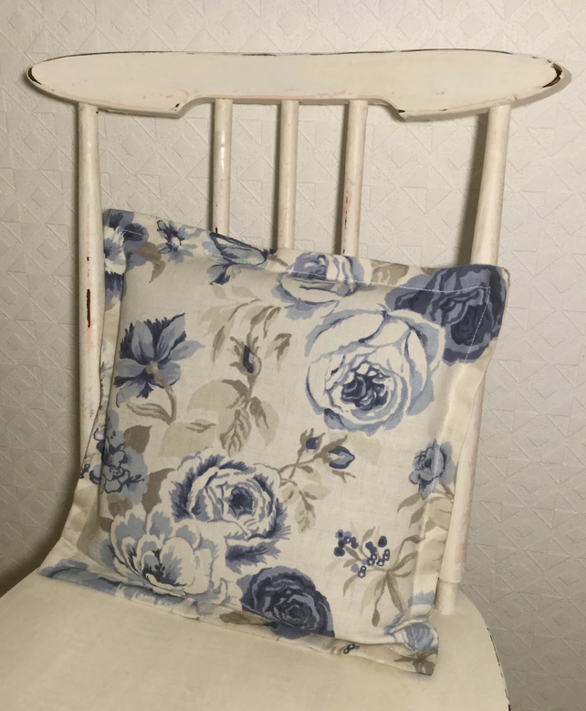 Blue Roses cushion cover