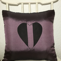 Taffeta Heart Cushion Cover
