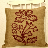 Hessian Look Cushion Cover