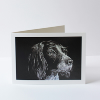 Spaniel Drawing Greetings Card