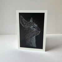 Cat in Side Profile Card