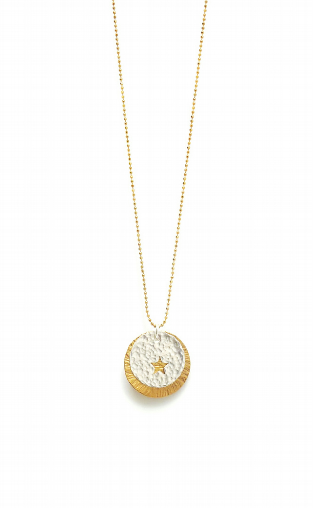 Peek a Boo Star Sunburst Necklace