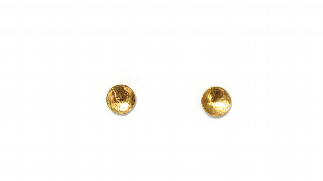 Sunburst Earrings, Gold
