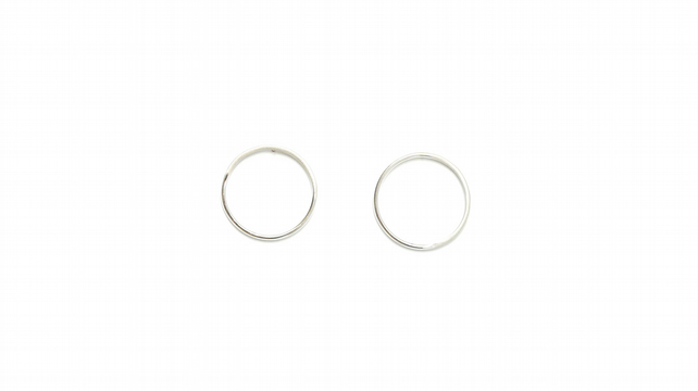 Sunburst Circles Earrings, Sterling Silver