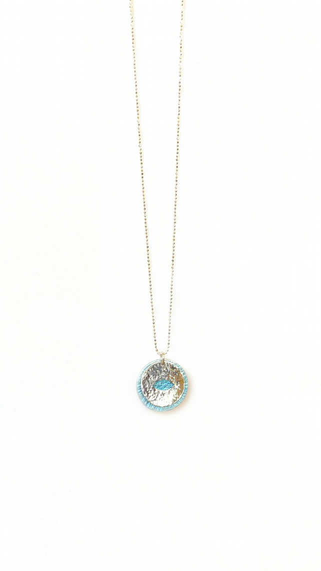 Peek a Boo Evil Eye Necklace