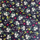 100% Cotton Poplin Ditsy Flowers on Navy