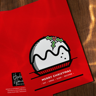 Merry Christmas (Pudding) Card