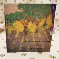 Greatings Card With A Packet Of Lavender Seeds - eco gift