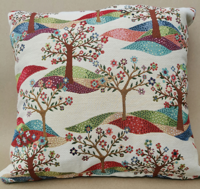 Chatham Glyn UK Handmade Cotton Rich Cushion Covers Tree of Life Design