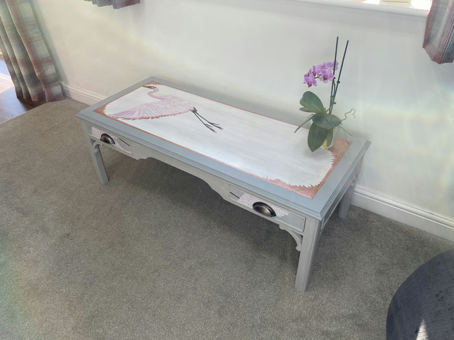 Upcycled hand designed table