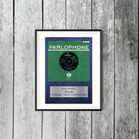 My First 45. Personalised. Digital Download. A4 sized. Customised Gift.