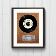 My Favourite 45. Personalised. Music Lover, A4 Digital Download. Wall Art Print.