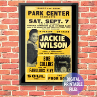 Jackie Wilson Concert Poster. Personalised, printable A4 Poster Wall Art Print.