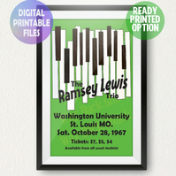 Ramsey Lewis Concert Poster. A4 Poster Wall Art Print.